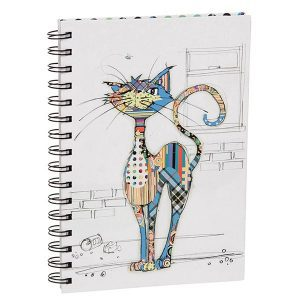 Hardback Bug Art Cat Notebook A5