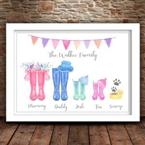 Family Welly Boots Print