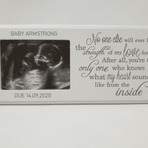 Personalised Baby Scan Photo Plaque