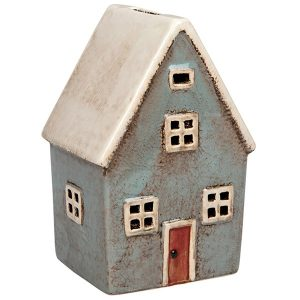 Village Pottery Money Box House